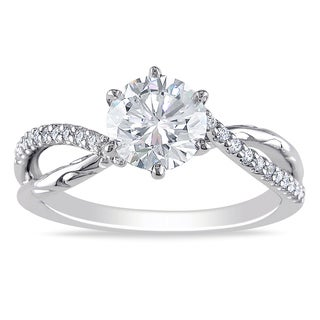 Miadora 18k White Gold 1 1/5ct TDW Diamond Engagement Ring (G-H, SI2)