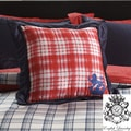 Stock Port Red Plaid Decorative Pillow