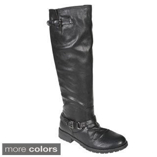 Story Women's Motorcycle Knee-high Boots