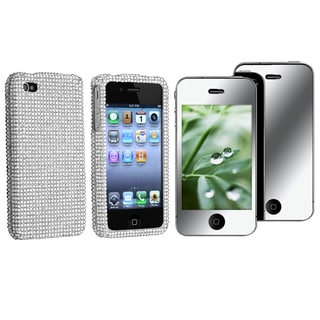 Silver Diamond Case/ Screen Protector for Apple iPhone 4