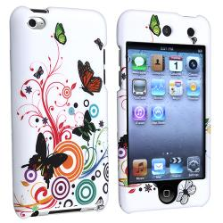 White Autumn Flower Snap-on Case for Apple iPod touch 4th Gen.