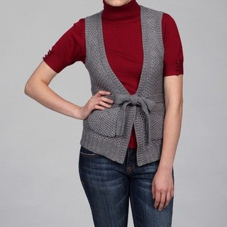 Escio Women's Grey Tie-front Vest FINAL SALE
