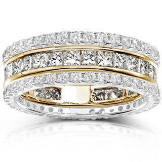 Annello 14k Gold 3ct TDW Diamond Stackable Eternity Band Set (H-I, I1-I2)