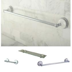 Brass/Chrome 3-Piece Shelf and Towel Bar Bathroom Accessory Set