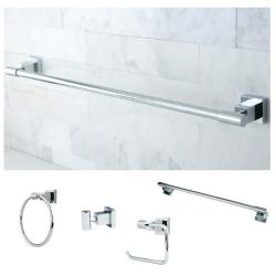 Chrome 4-piece Bathroom Accessory Set