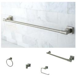 Satin Nickel 4-piece Bathroom Accessory Set