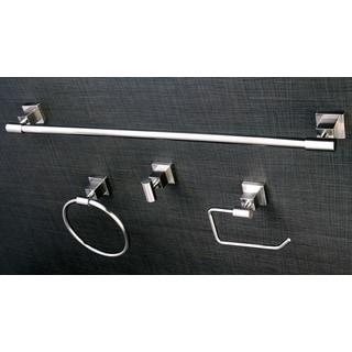 Satin Nickel 4-piece Bathroom Accessory Set