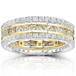 Annello 14k Gold 2ct TDW Stackable Diamond Eternity Band Set (H-I, I1-I2)