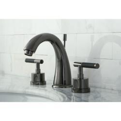 Black Nickel Widespread Bathroom Faucet with Horizontal Handles