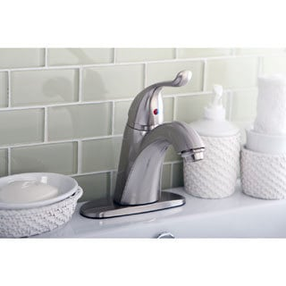 Satin Nickel Single-lever Handle Bathroom Faucet