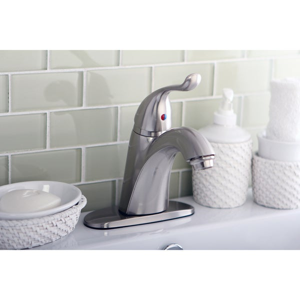 Satin-Nickel Single-Lever-Handle Bathroom Faucet
