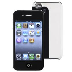 Chrome Silver Case/ Mirror Screen Protector for Apple iPhone 4