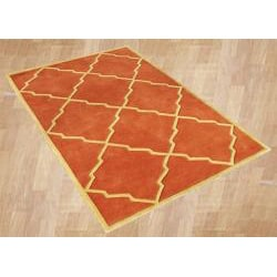 Hand-tufted World Classic Rust Wool Rug (8' x 10')