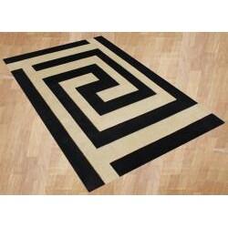 Alliyah Handmade New Zeeland Blend Black Wool Rug (8' x 10')