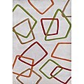 Alliyah Handmade New Zeeland Blend Grey Wool Rug (5' x 8')