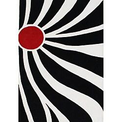 Hand-tufted Fleur-De-Lis Ivory Wool Rug (8' x 10')