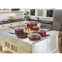 Cuisinart 55-11R Red Advantage Nonstick 11-piece Cookware Set