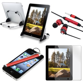 BasAcc Stylus/ Headset/ KEYDEX Stand/ LCD Protector for Apple iPad 2