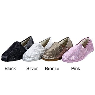 Groove Women's 'Magic' Glitter Canvas Flats