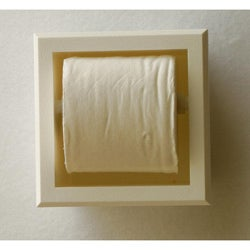 In The Wall Plastic Bevel Frame Recessed Toilet Paper Holder
