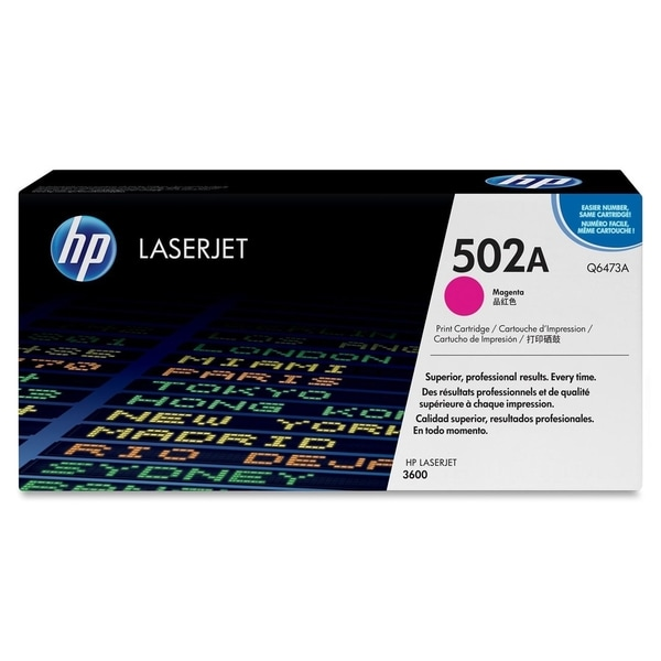 HP 502A (Q6473AG) Magenta Original LaserJet Toner Cartridge for US Go