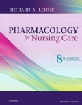 Pharmacology for Nursing Care (Hardcover)