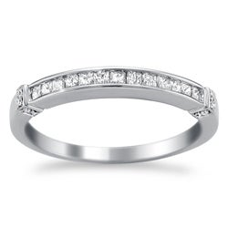 14k White Gold 1/3ct TDW Diamond Wedding Band (H-I, I2-I3)
