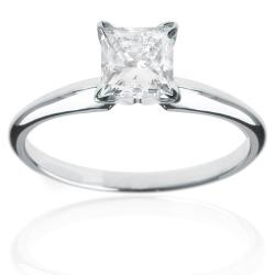 14k White Gold 1 1/2ct TDW Diamond Solitaire Engagement Ring (H-I, I1-I2)