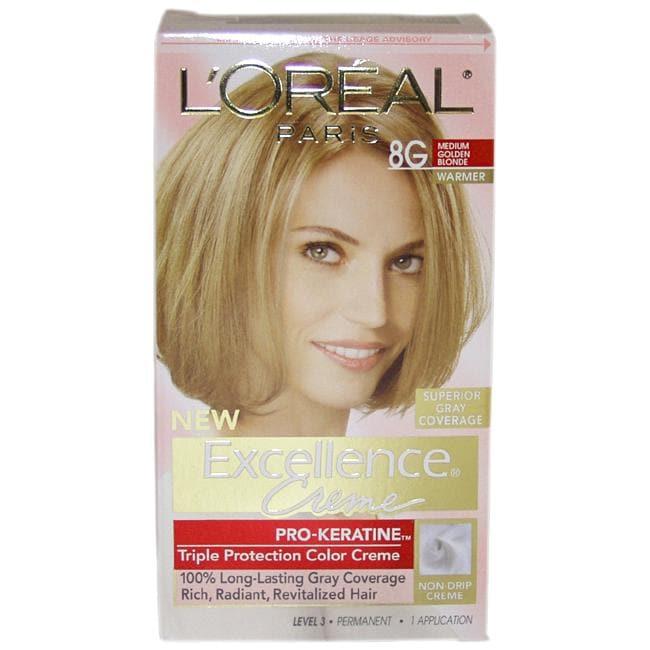 Excellence Creme Pro Keratine # 8G Medium Golden Blonde Hair Color