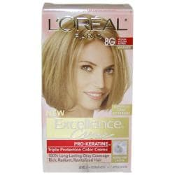 L'Oreal Excellence Creme Pro Keratine # 8G Medium Golden Blonde Hair Color