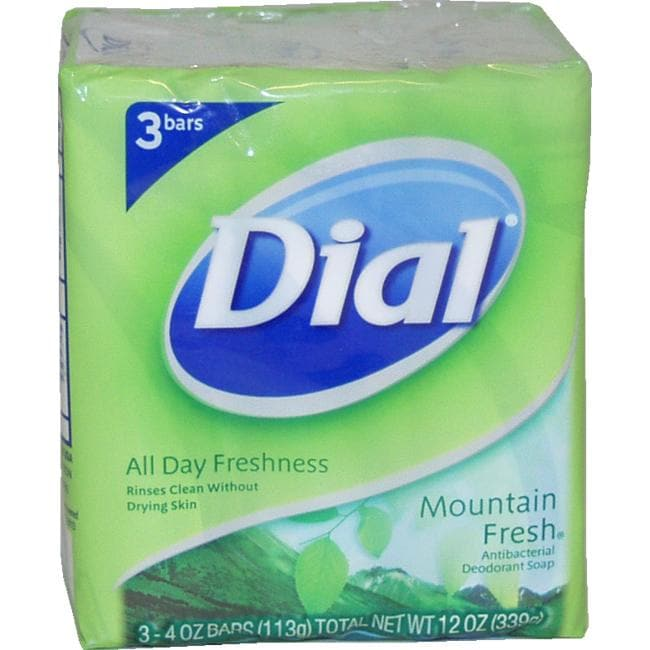 Dial 'Mountain Fresh' 4-ounce Antibacterial Deodorant Soap (Pack of 3)