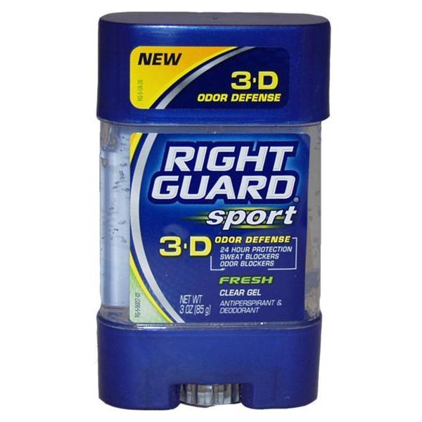 Right Guard Sport 3-D Odor Defense Clear Gel Fresh 3-ounce Antiperspirant Deodorant