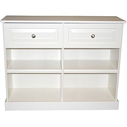 Akadahome Multipurpose Antique White Hallway Storage Console