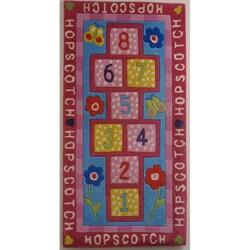 """Hopscotch Hand-tufted Kid's Area Rug (30"""" x 60"""")"""