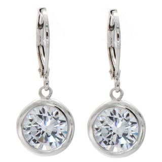 NEXTE Jewelry Silvertone Cubic Zirconia Solitaire Earrings