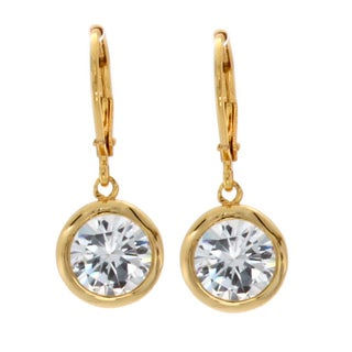NEXTE Jewelry Gold Overlay Cubic Zirconia Dangle Earrings