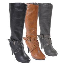 Hailey Jeans Co Women's 'Woodsx-12' Buckle High Heel Boots