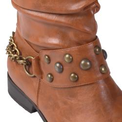 Journee Collection Women's 'Esmerelda-36' Stud Detail Slouchy Boots