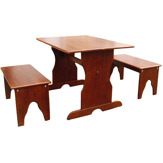 Juvenile Cottage Oak Table with Two Benches
