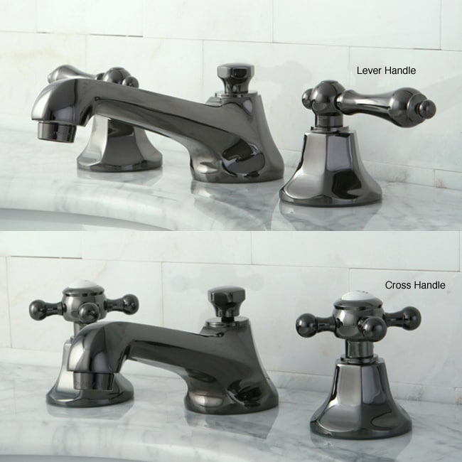 Black Widespread Bathroom Faucet : Oil Rubbed Bronze and Black Widespread Bathroom Faucet