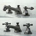 Double-handle Widespread Black Nickel Bathroom Faucet