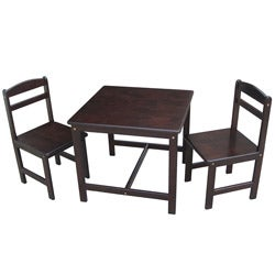 Juvenile Java Table with Two Chairs Set