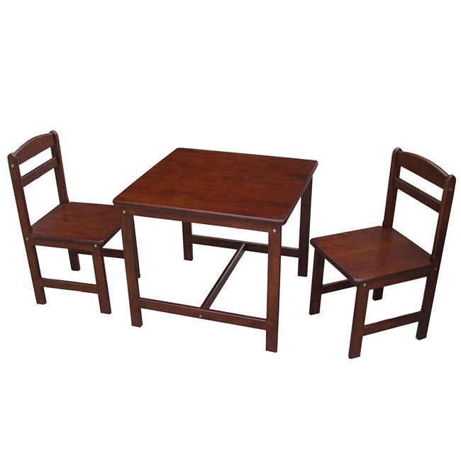 Juvenile Cottage Oak Table with Two Chairs Set