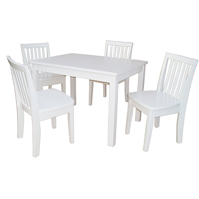 Juvenile mission linen white 3 pc table and chairs set