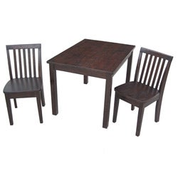 Juvenile Java Mission Table with Two Chairs Set