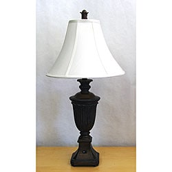 Traditional Antique Mahogany Urn Table Lamp