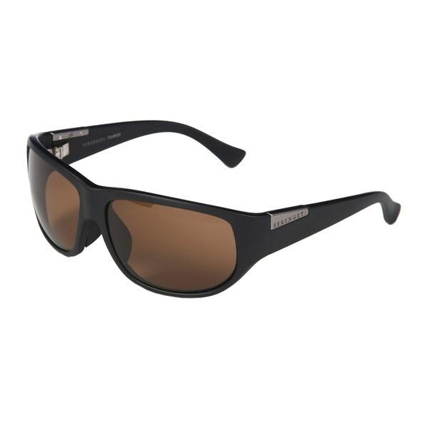 Serengeti Women's 'Salerno' Satin Black Sunglasses