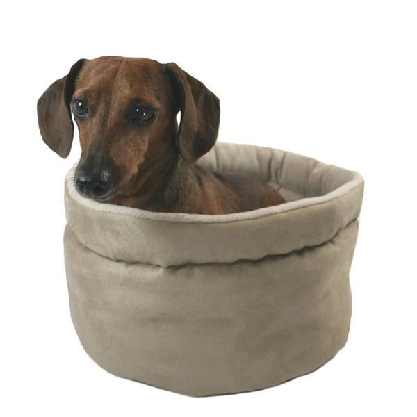 Hidden Valley Comfy Curler Tan Dog & Cat Bed