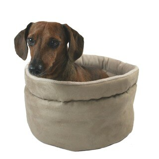Hidden Valley Comfy Curler Tan Dog & Cat Bed