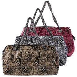 Adi Designs Women's Oversize Mixed Animal Print Satchel